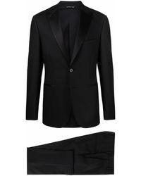 Tonello Single Breasted Tuxedo Suit - Black