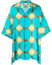 Gucci Bowling Overhemd - Blauw