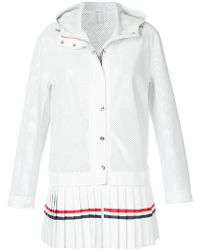 Thom Browne - Pleated Hooded Jacket - Lyst