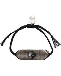 Venessa Arizaga Yin Yang Beaded Bracelet - Black