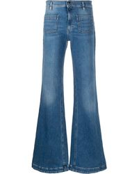 RED Valentino Flared Mid-rise Jeans - Blue