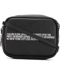 Calvin Klein スローガン ショルダーバッグ - ブラック