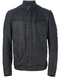 Belstaff - Band Collar Biker Jacket - Lyst
