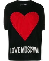 Love Moschino Трикотажный Джемпер Hear - Черный