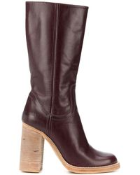 DSquared² Chunky Heel Mid-calf Boots - Brown