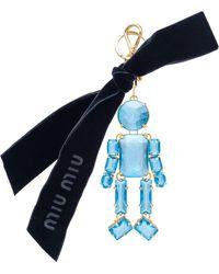 Miu Miu Trick Man Keyring - Blue