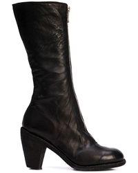 Guidi Mid-calf Zipped Boots - Black