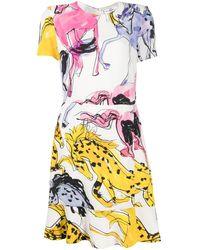 Stella McCartney Horse-print Mini Dress - White