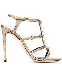 Grey Mer - Metallic Embellished Strappy Sandals - Lyst