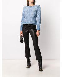 Balmain Декорированная Джинсовая Куртка - Синий