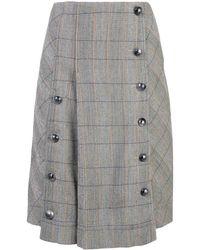 Chloé チェック スカート - グレー