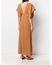 Caravana Conkal Knot-detail Dress - Orange