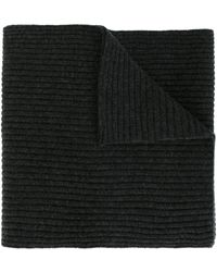 N.Peal Cashmere Ribbed Scarf - Gray