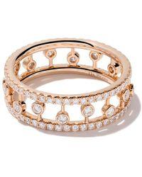 De Beers - 18kt Rose Gold Dewdrop Diamond Band - Lyst