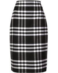 Oscar de la Renta チェック スカート - ブラック