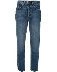Anine Bing Sonya High-rise Straight Jeans - Blue