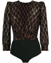 Elisabetta Franchi - Monogram Bodysuit - Lyst