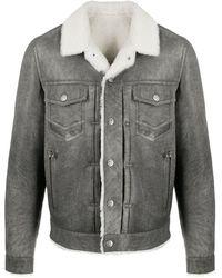 Balmain Куртка-рубашка Из Шерпы - Серый