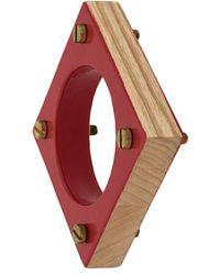 Corto Moltedo Square Bangle - Red