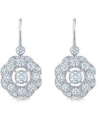 Kwiat 18kt White Gold Splendour Diamond Drop Earrings - Metallic