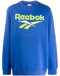 Reebok Классический Свитер С Логотипом - Синий