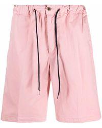 PT01 ドローストリング ショートパンツ - ピンク