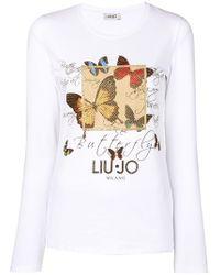 Liu Jo - Camiseta Butterfly - Lyst