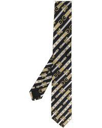 Versace Krawatte mit Western-Print - Schwarz