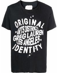Greg Lauren ロゴ Tシャツ - ブラック