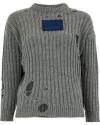 A_COLD_WALL* ダメージセーター - グレー