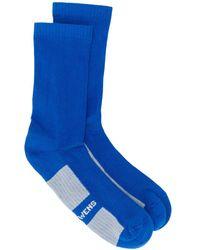Rick Owens ロゴ 靴下 - ブルー