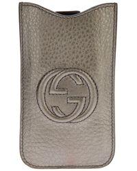 Gucci Logo Iphone Case - Металлик