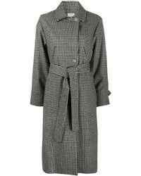 Roseanna チェック ベルテッド コート - ブラック