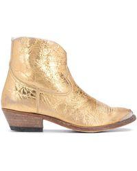 Golden Goose Deluxe Brand Ковбойские Ботинки С Эффектом Металлик
