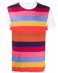 Comme des Garçons - コントラストスリーブ ストライプ Tシャツ - Lyst