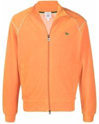 Lacoste L!ive Embroidered Logo Sweatjacket - Orange