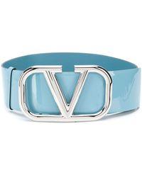 Valentino Garavani Ремень С Логотипом Vlogo - Синий
