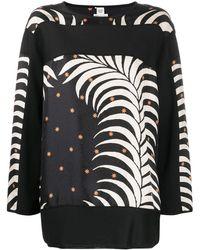Hermès Blusa con stampa Pre-owned - Nero