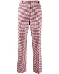 10 Crosby Derek Lam Galen Straight Gingham Twill Trouser - Pink