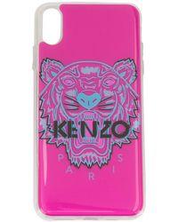 KENZO タイガー Iphone Xs Max ケース - パープル