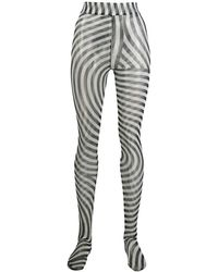 Henrik Vibskov Graphic Print Pool Tights - Black