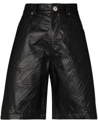 we11done エンボスロゴ ショートパンツ - ブラック