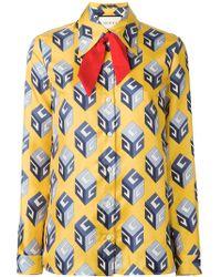 Gucci - Gg Wallpaper Print Shirt - Lyst