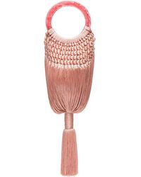 Cult Gaia Pink Angelou Tasseled Bag