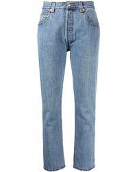 RE/DONE - Jeans dritti con vita media - Lyst
