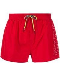DIESEL Плавки-шорты Fold & Go - Красный