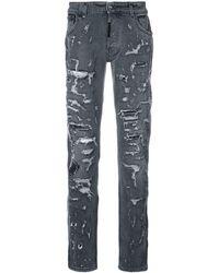 Philipp Plein - Heavy Distressed Jeans - Lyst
