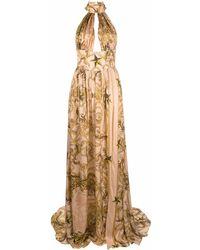 Philipp Plein - Платье С Принтом Baroque И Вырезом Халтер - Lyst