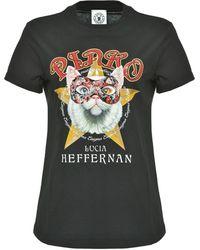 Pinko T-Shirt mit grafischem Print - Schwarz