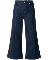 RED Valentino - Flared Cropped Jeans - Lyst
